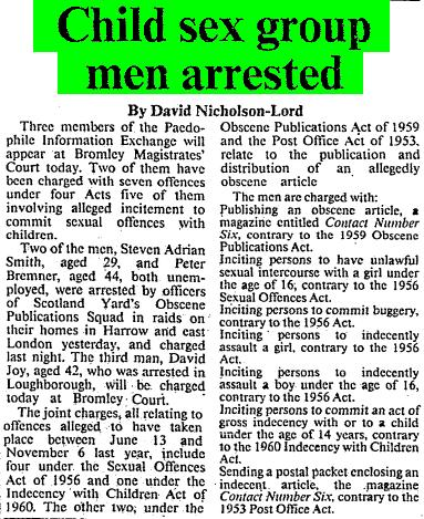 Times 090983 - Child sex group men arrested