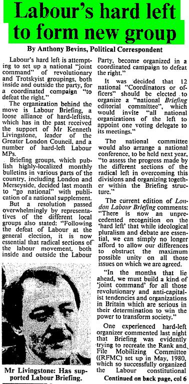 Times 240883 - Labour's hard left to form new group 1