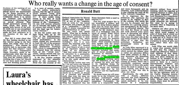 Times 220176 - Who really wants a change in the age of consent